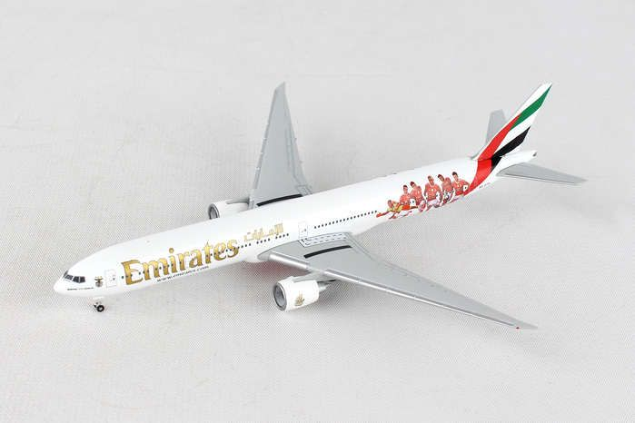 "Emirates 777-300ER ""Benfica Lissabon"" A6-EPA (1:500), Herpa 1:500 Scale Diecast Airliners Item Number HE529853"