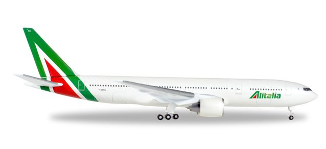 Alitalia 777-200 I-DISU New Livery (1:500), Herpa 1:500 Scale Diecast Airliners Item Number HE530118
