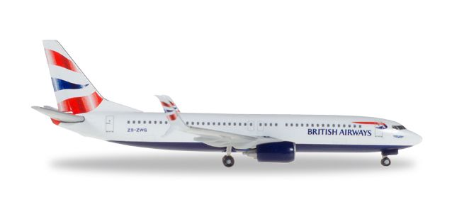 British Airways 737-800 (1:500) ZS-ZWG Comair, Herpa 1:500 Scale Diecast Airliners Item Number HE530408