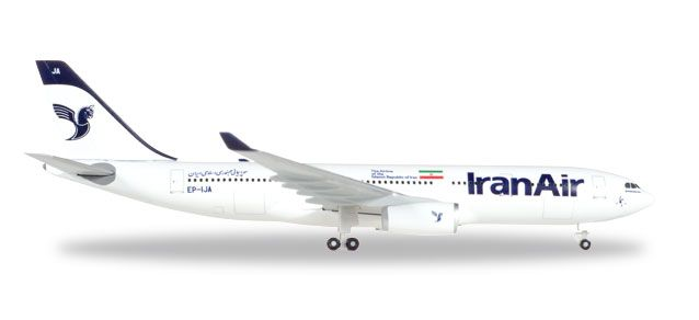 Iran Air Airbus A330-200 EP-IJA (1:500), Herpa 1:500 Scale Diecast Airliners Item Number HE530569