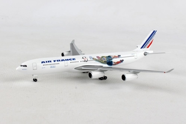 "Air France A340-300 ""France 1998: Brazil / Columbia"" F-GLZK (1:500), Herpa 1:500 Scale Diecast Airliners Item Number HE531412"