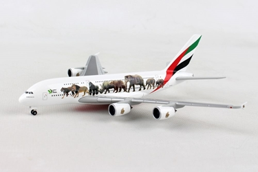 "Emirates Airbus A380 ""United for Wildlife"" (1:500), Herpa 1:500 Scale Diecast Airliners Item Number HE531764"