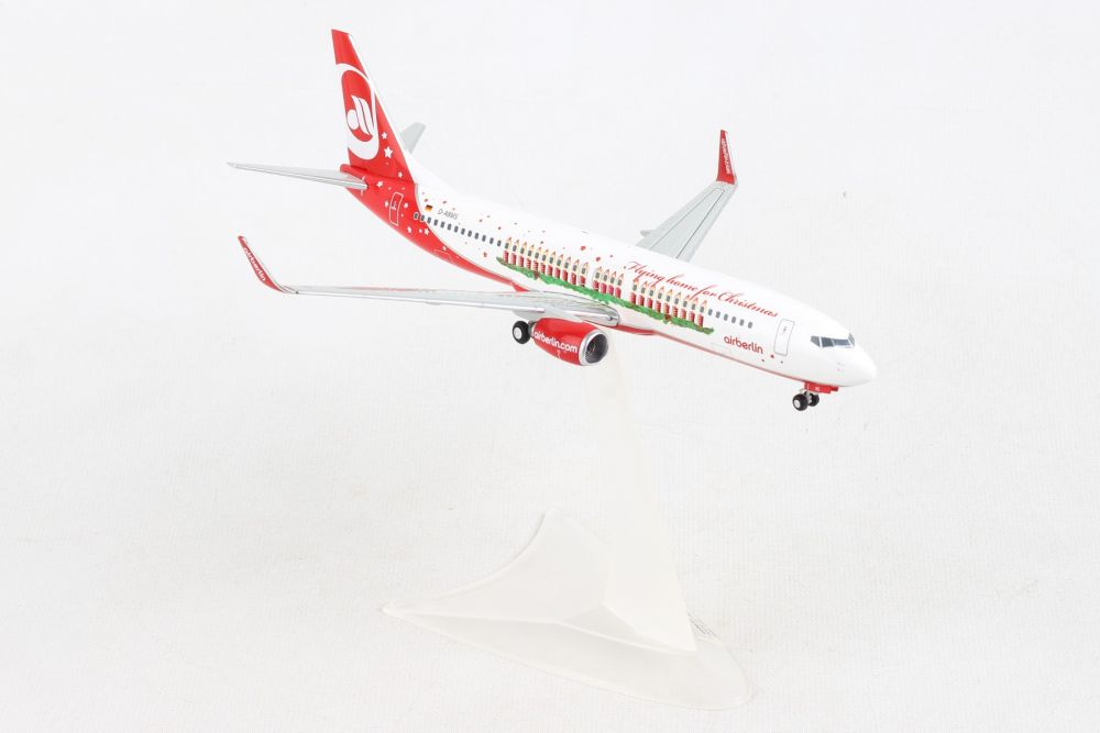 "Air Berlin 737-800 D-ABMS ""Flying Home For Christmas"" (1:200), Herpa 1:200 Scale Diecast Airliners Item Number HE556811"