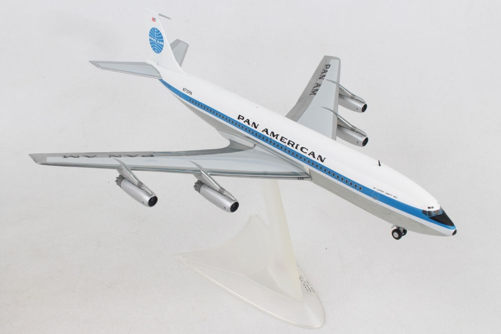 "Pan American World Airlines Boeing 707-320 ""Jet Clipper Liberty Bell"" N715PA (1:200) - Preorder item, order now for future delivery, Herpa 1:200 Scale Diecast Airliners, Item Number HE556835-001"