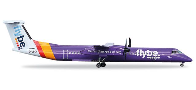 "Flybe Dash 8 Q-400 G-JECY ""Faster Than Road or Rail""  (1:200), Herpa 1:200 Scale Diecast Airliners Item Number HE557160"