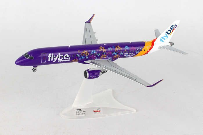 "Flybe ERJ-195 ""Welcome To Yorkshire"" G-FBEJ (1:200), Herpa 1:200 Scale Diecast Airliners Item Number HE558297"