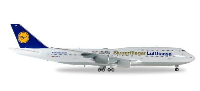 "Lufthansa 747-8 ""Siegerflieger"" Olympia Rio 2016 (1:200), Herpa 1:200 Scale Diecast Airliners Item Number HE558402"