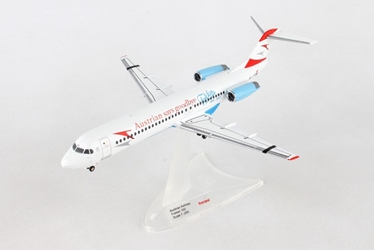 "Austrian Airlines Fokker 100 ""Goodbye Fokker"" OE-LVE ""Zagreb"" (1:200), Herpa 1:200 Scale Diecast Airliners Item Number HE559027"