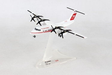 "Trans World Express De Havilland Canada DHC-7 ""Dash 7"" N173RA (1:200) Preorder item, order now for future delivery, Herpa 1:200 Scale Diecast Airliners Item Number HE559041"