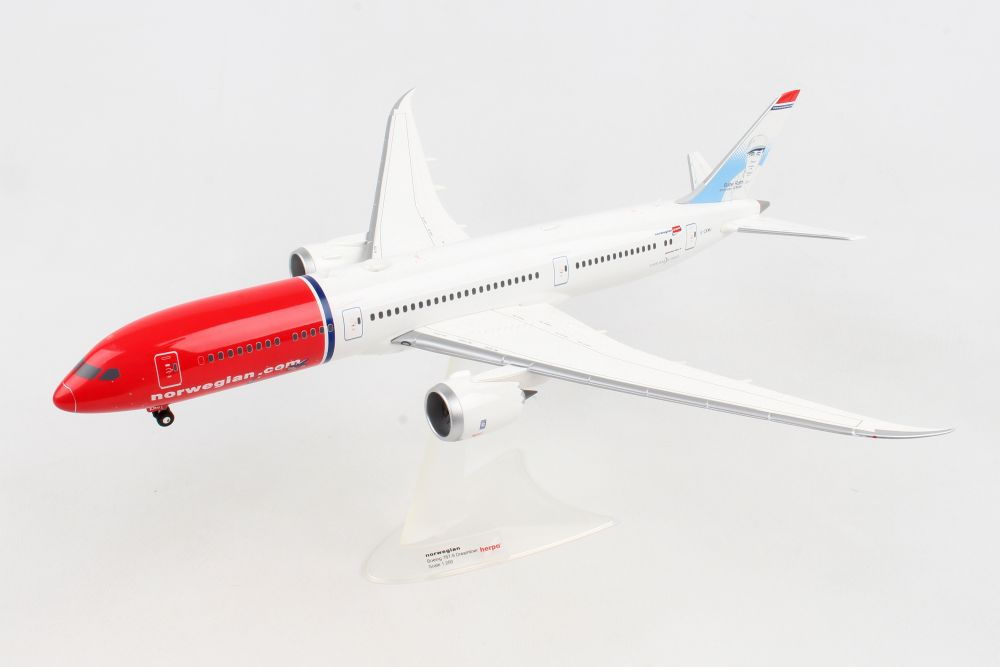"Norwegian 787-9 ""Babe Ruth"" G-CKMU (1:200) , Herpa 1:200 Scale Diecast Airliners Item Number HE559140"