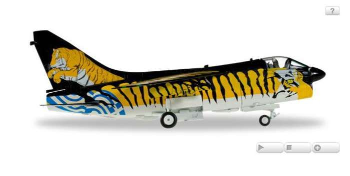 "A-7E Corsair II, Hellenic Air Force, 335th Bomber Squadron ""Tigris"" - ""Tiger Meet"" (1:72) - New Mold, Herpa 1:72 Item Number HE580014"