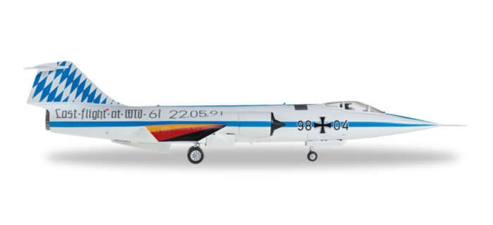 Luftwaffe F-104G WTD61 Last Flight 98+04 (1:72), Herpa 1:72 Item Number HE580120