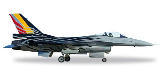 "F-16AM Fighting Falcon, Belgian Air Force F-16 Solo Display Team ""FA-123"" (1:72), Herpa 1:72 Item Number HE580137"