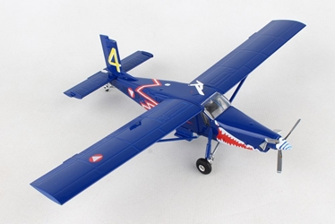 "Austrian Air Force Pilatus PC-6 Turbo Porter 4. Flachenstaffel, ""Blaue Elise"" 3G-EK (1:72), Herpa 1:72 Item Number HE580274"