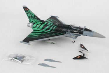 "Luftwaffe Eurofighter Typhoon, TaktLwG 74 NATO Tiger Meet 2018, Poznan-Krzeslny Air Base ""Ghost Tiger"" 31+00 (1:72), Herpa 1:72 Item Number HE580427"