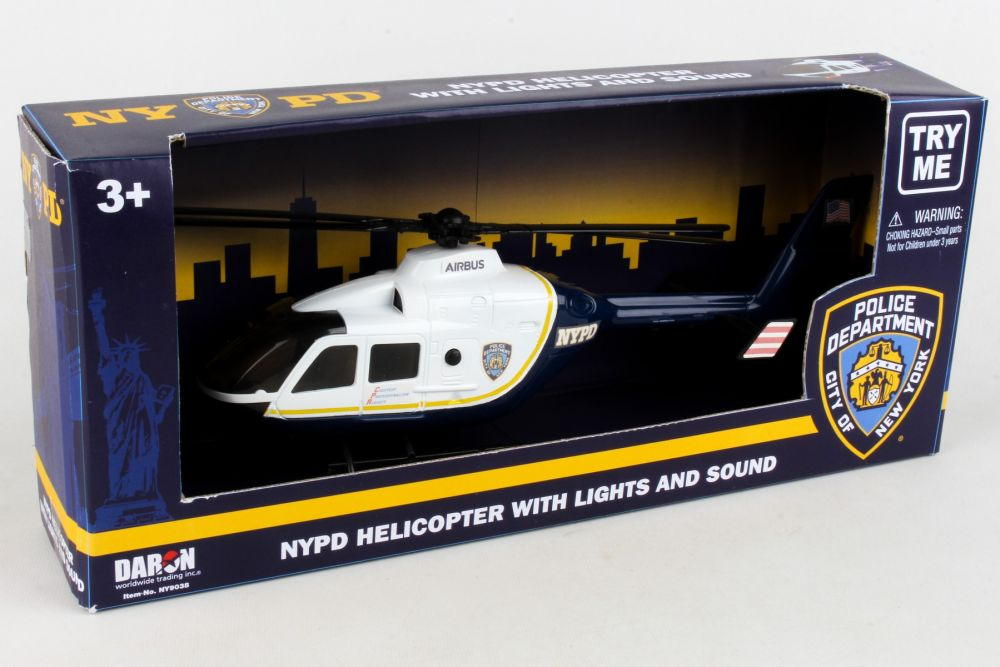 NYPD Helicopter W/LIGHTS & Sound 1/32, Realtoy Item Number RT8700