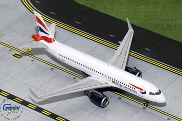 British Airways A320neo G-TTNA (1:200), GeminiJets 200 Diecast Airliners, Item Number G2BAW755
