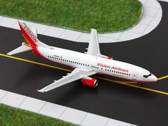 Vision Airlines Boeing 737-400 N745VA (1:400), GeminiJets 400 Diecast Airliners, Item Number GJRBY1086