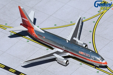 USAir B737-300 N523AU (1980s polished livery) (1:400)
