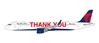"Delta Air Lines A321 N391DN ""Thank You"" (1:400)"