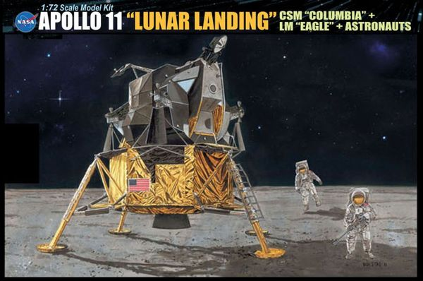 Apollo 11 Lunar Landing 1:72, Dragon Model Kits Item Number DRA11002